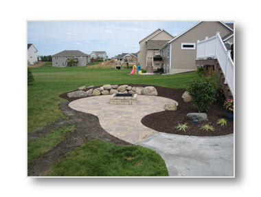 concrete paver patio in west michigan area