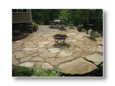 michigan flagstone patio in holland michigan