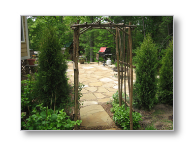 flagstone michigan sandstone patio