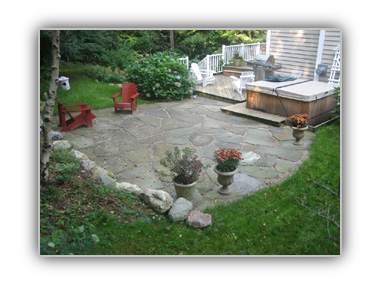 bluestone irregular patio